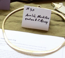 Neck-ring typical of Anglo-Saxon grave finds, Earl Kenric aet Essex