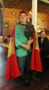 Master Ekkehardt of Oakenwode, Master Bad Example, with his oar