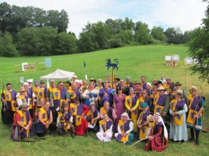 Eastern Archery Champions Team and Royalty at Pennsic 42