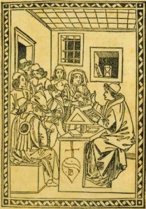 master with students - florence mascomini 1492