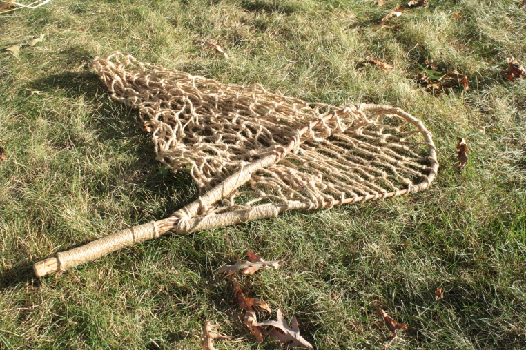 Mistress Randall Vihari-Farkas, Norse fishing net for scooping fish from a large netted or fenced river area