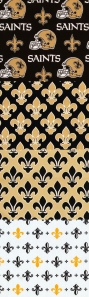 New Orleans Saints fabric swatches