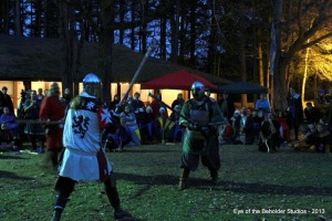 The finals with Duke Konrad and Sir Brennan.  Photo by Baroness Cateline la Broderesse