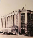 Higgins Armory Museum - vintage photo of the historic art-deco building