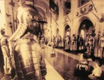 Higgins Armory Museum - vintage photo of the great hall
