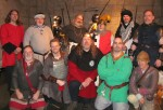 Higgins Armory Museum - some of the SCA folk who visited December 21, 2013