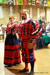 Baronessa Maria Pagani and Baron Juan Xavier's winning entry from Her Grace Avelina's sports garb challenge at Birka.