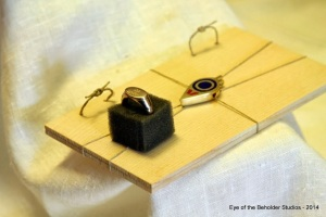 Roman seal box with seal ring. Work by Master Luke Knowlton.  Photo by Baroness Cateline la Broderesse