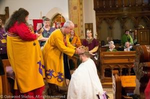 King Kenric crowns His successor