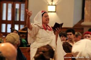 The seeress Faustina Numera  Septima pronounces King Kenric's doom
