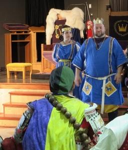 His Majesty addresses the combatants