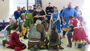 Competitors and consorts for the semi-finals gather