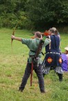Lord Alberic and King Gregor at Archery Champs at Pennsic 42, photo by Baroness Rainillt