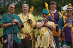 Some archery ringers at Pennsic 42, photo by Baroness Rainillt
