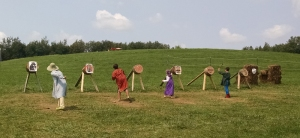 Eastern children and adults participate in Thrown Weapons