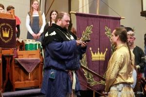 King Brennan passes on his crown to Prince Edward