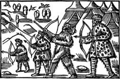 Olaus Magnus 1555 - Archers