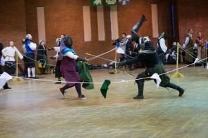 Rapier Combat at A Market Day at Birka. Photo courtesy of Countess Caoilfhionn.