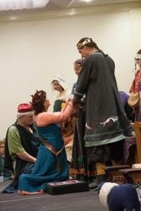 Mistress Jehannine offers her fealty.