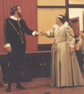 Master Kali as Oberon and his wife, Mistress Caryl, as Titania in 1982