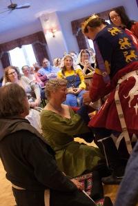Mistress Catrin with Their Majesties Photo courtesy of Raziya Bint Rusa