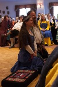 Baroness Clarice della Luna and Baron Lachlan Graheme Photo courtesy of Raziya Bint Rusa