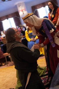 Sir Michael receives his glove from Queen Thyra Photo courtesy of Raziya Bint Rusa