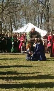 Prince Brennan crowns the new Princess.