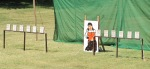 The targets for the final round of the archery championship.