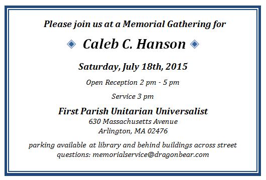 Memorial Service for Master Kali, July 18, 2015 in Arlington MA