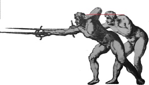 Fabris' guard and lunge overlaid