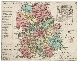 Map of Shropshire, England