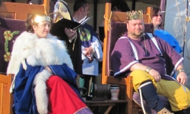 King Brennan and Queen Caoilfhionn at Balfar's Challenge in 2014 Photo by Ygraine of Kellswood