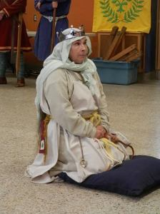 Alisay de Falaise sent to Vigil to contemplate joining the Order of the Pelican. (Photo by Brunissende Dragonette de Broceliande.)