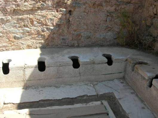 Ancient public toilets in Ephesus
