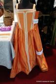 "Silk dress by Lady Katharyn ""Kit"" Mercer"