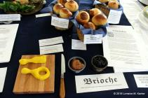 Several different types of brioche based on interpreting period recipes, by Lady Judith bas Rabbi Mendel.
