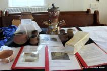 Dame Brunissende Dragonette's beads and Merovingian pottery.