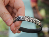 Bracelet with Silver Wire Inlay made by Lord Anton Laflamme d'Saint Aubin