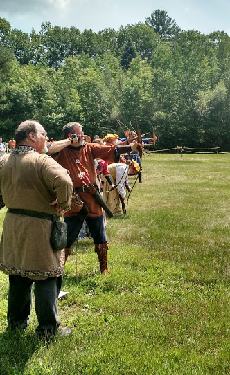 Archers shoot at long distance at 2016 K&Q Archery Championship