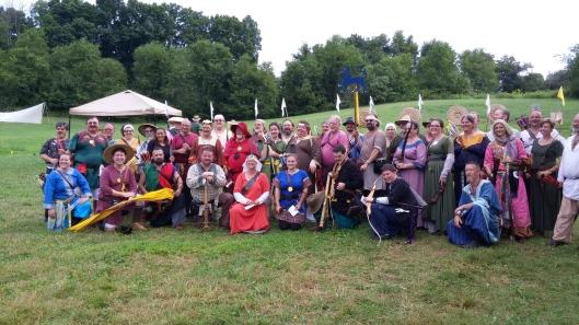 East Kingdom archery champions team. Photo by Lady Avelina Percival