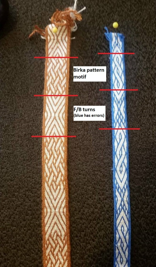 Samples of my tablet weaving using this trick. Click for a larger image.