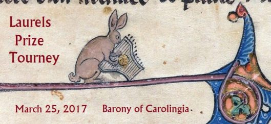 Laurels Prize Tourney, March 25, 2017, Barony of Carolingia