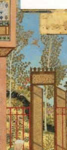 "Poplar. Behzād. Detail from ""Birth of a Prince"". (1485) Soudavar, p. 99."