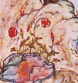Poppy. Detail from the Houghton Shāhnāma. (1539) Welch, p. 80.