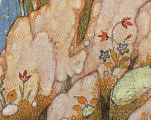 "Tulip. Mohammadi. Detail from ""Throwing Down the Imposter"". (1581) Soudavar, p. 233."
