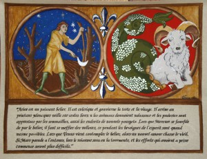 Aries by His Excellency Master Ursion de Gui.  More artwork can be seen at www.eastkingdombookofdays.com
