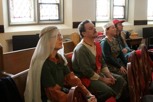 Bards waiting their turn to perform