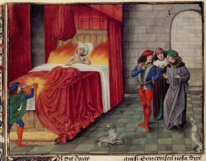 The Death of Charles of Navarre. From Froissart's Chronicles. Getty Ludwig XIII.7