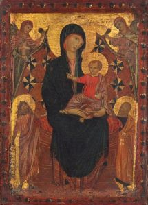 Madonna and Child with Saint John the Baptist, Saint Peter, and Two Angels c. 1290. National Gallery of Art. Samuel H. Kress Collection 1952.5.60.